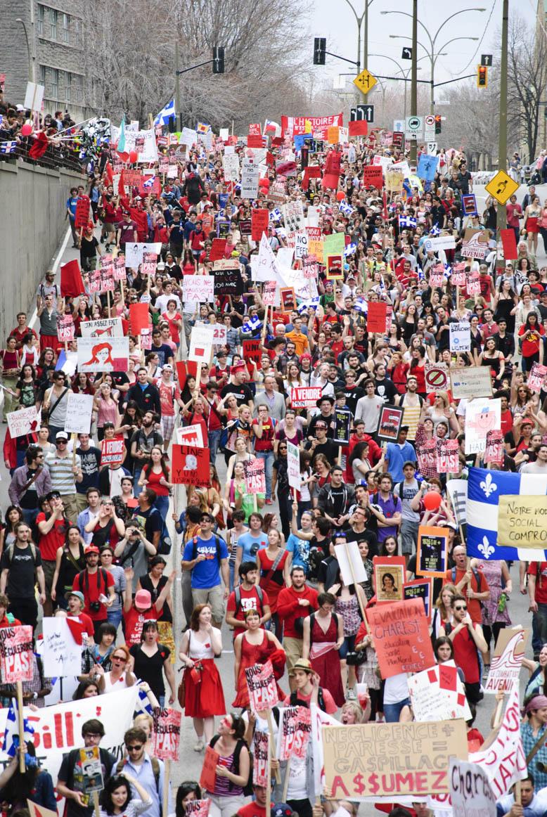 Manifestation etudiante en Quebec