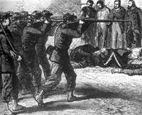 Communards fusillés par les soldats versaillais pendant la « semaine sanglante »